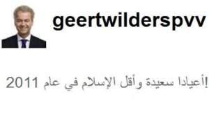 Wilders mit Hohn auf arabisch